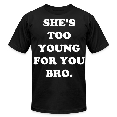 she too young - Men's Fine Jersey T-Shirt