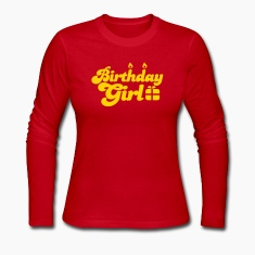birthday girl new with present Long Sleeve Shirts