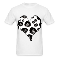 T-Shirts ~ Men's T-Shirt ~ Mens Rose Heart Street Style Fashion T-Shirt