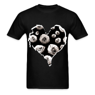 T-Shirts ~ Men's T-Shirt ~ Mens Rose Heart Street Style Fashion T-Shirt