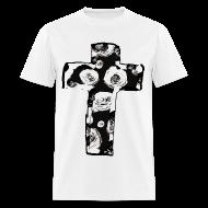 T-Shirts ~ Men's T-Shirt ~ Mens New Religion Rose Cross Street Style T-Shirt