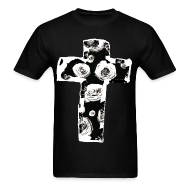 T-Shirts ~ Men's T-Shirt ~ Mens New Religion Rose Cross Street Style T-Shirt