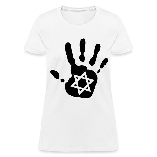 Hand + Star of David  - Women's T-Shirt