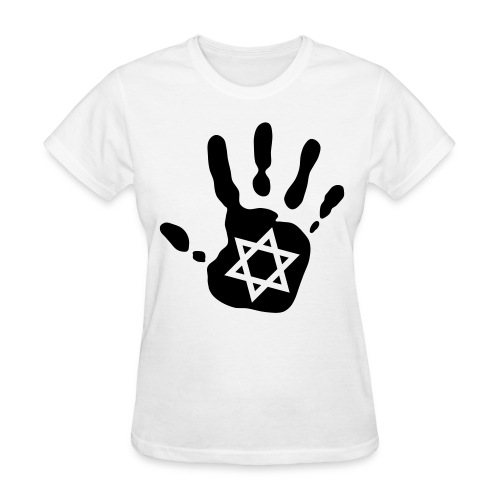 Hand + Star of David  - Women's T-Shirt