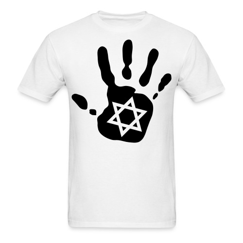 Hand + Star of David  - Men's T-Shirt