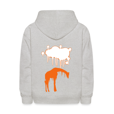 Giraffe Graphic Design Picture Vector - Cool Pink and Blue Animal Graffiti Giraffe Getting Rained on By a Paint Splatter Cloud! Emo, sad, funny, joke, cute Great for Ipad cases, iphone cases, hoodies, tshirts, tank tops, etc! Sweatshirts