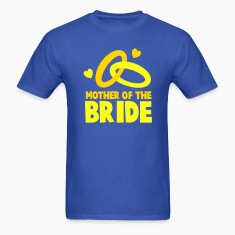 MOTHER OF THE BRIDE with cute love hearts and rings T-Shirts
