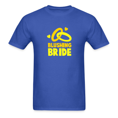 BLUSHING BRIDE with cute love hearts and rings T-Shirts