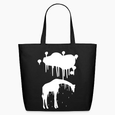 Giraffe Graphic Design Picture Vector - Cool Silver Animal Graffiti Giraffe Getting Rained on By a Paint Splatter Cloud! Emo, sad, funny, joke, cute Great for Ipad cases, iphone cases, hoodies, tshirts, tank tops, etc! Bags