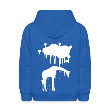 Giraffe Graphic Design Picture Vector - Cool Silver Animal Graffiti Giraffe Getting Rained on By a Paint Splatter Cloud! Emo, sad, funny, joke, cute Great for Ipad cases, iphone cases, hoodies, tshirts, tank tops, etc! Sweatshirts