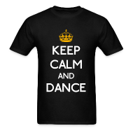 T-Shirts ~ Men's T-Shirt ~ Keep Calm and Dance (Yellow)