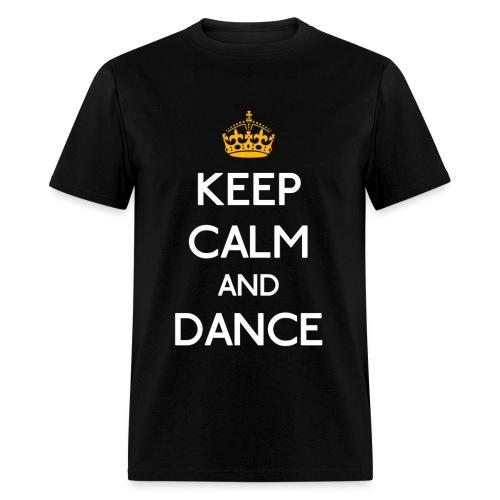 Keep Calm and Dance (Yellow) - Men's T-Shirt