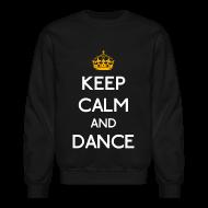 Long Sleeve Shirts ~ Crewneck Sweatshirt ~ Keep Calm and Dance (Yellow)