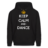 Hoodies ~ Men's Hoodie ~ Keep Calm and Dance (Yellow)