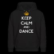 Hoodies ~ Men's Hoodie ~ Keep Calm and Dance (Yellow)