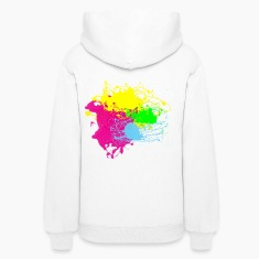 Multi Color Paint Splatter Graphic Design | Women and Teen Girl Graffiti Style Sweatshirt
