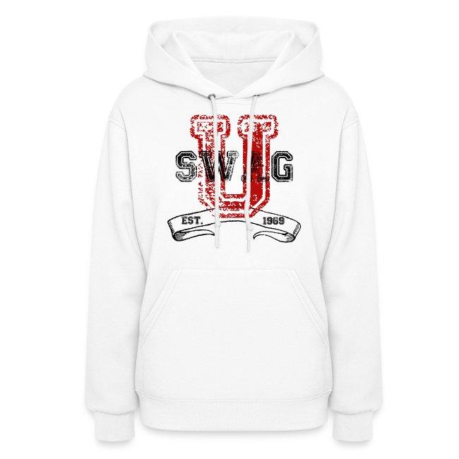 e9ea75bf0c7d41 Swag University Vintage College Font Graphic Design - Women and Teen Girls  Sweatshirt