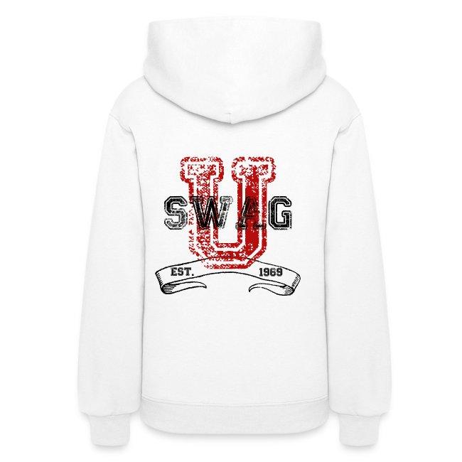 fb8f7c6b2e426 Swag University Vintage College Font Graphic Design - Women and Teen Girls  Sweatshirt