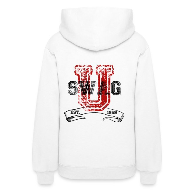 Swag University Vintage College Font Graphic Design - Women and Teen Girls  Sweatshirt 00bc42648b