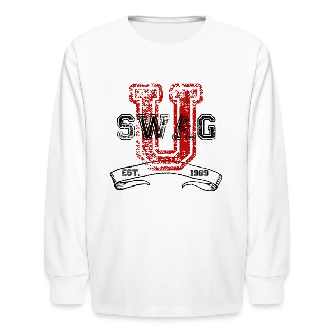 1bdf6d22bcae Swag University - Unisex Graphic Design College Font Graffiti Text Style