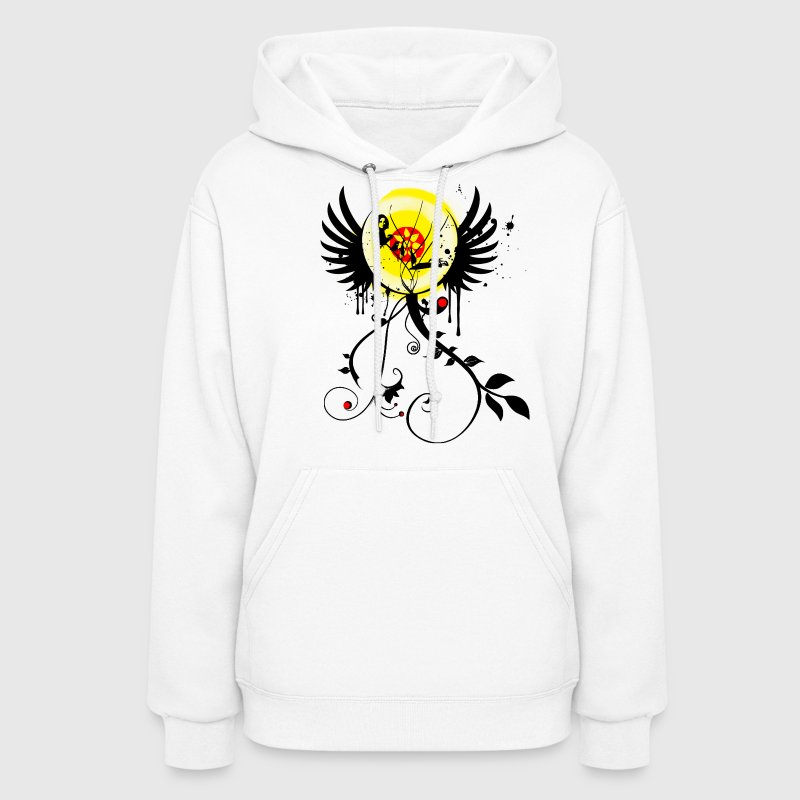 Flower Girl Graffiti Hoodie Paint Splatter Graphic Design | Women and Teen Sweatshirt - Women's Hoodie