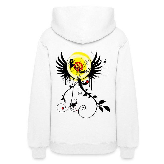 Flower Girl Graffiti Hoodie Paint Splatter Graphic Design  9e1fd5c3ae
