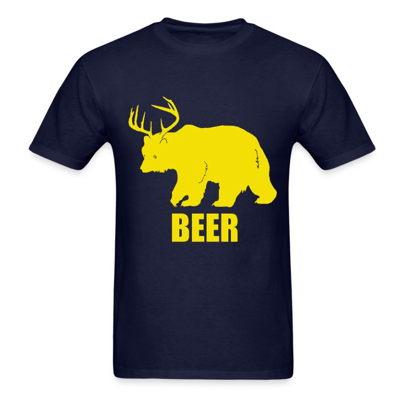Funny Beer T Shirts For Women Bear Deer Beer Funny D...