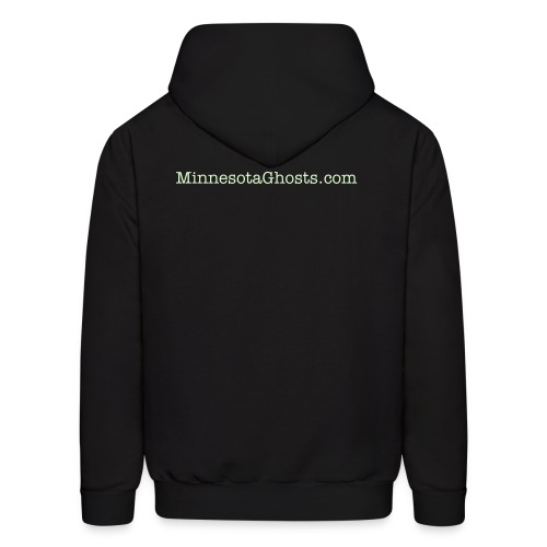 Black Ghost Ying Yang Hoodie with Glow In Dark Prints - Men's Hoodie