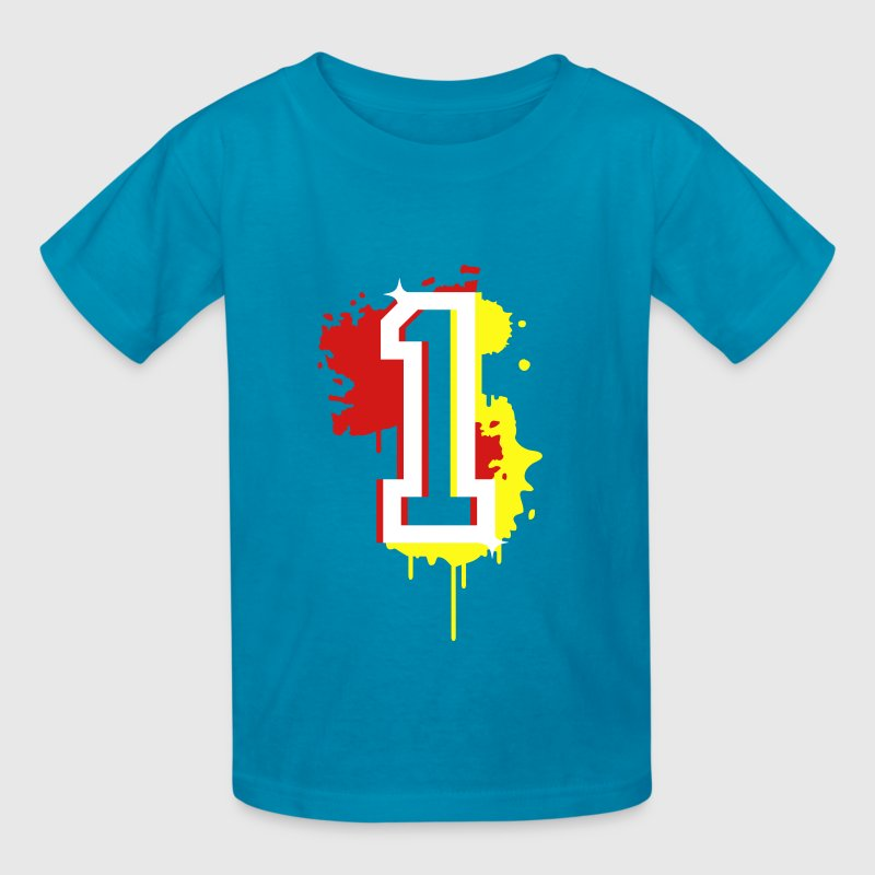 The number one as a graffiti Kids' Shirts - Kids' T-Shirt
