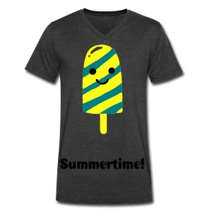 Summertime - Men's V-Neck T-Shirt by Canvas