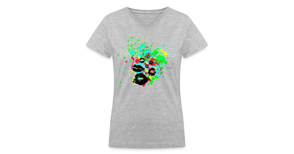 6ed472e7f7ef9 Buy Graphic Design Clothing Online | Men Women Teens Children & Babies |  Tees Shirts Hoodies | Graffiti Lips Explosion - Multi Color Paint Splatter  ...