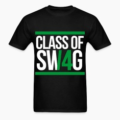CLASS OF SWAG (2014) Green with bands T-Shirts