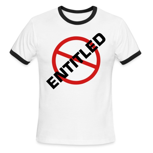 NOT Entitled Black Ringed T-Shirt - Men's Ringer T-Shirt
