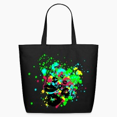 Graffiti Lips Explosion - Multi Color Paint Splatter Graphic Design