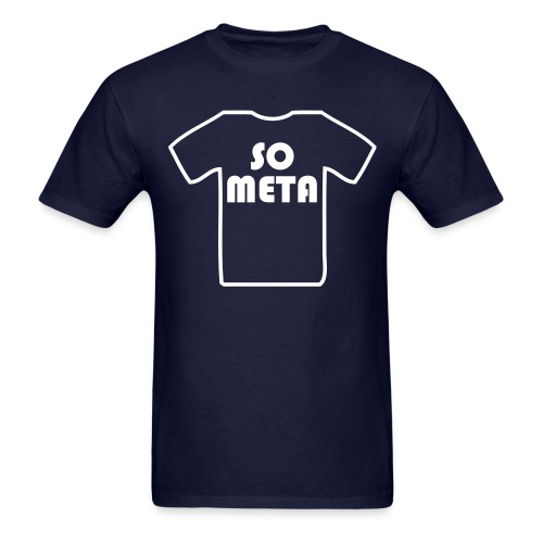 Meta Shirt on a Shirt - Men's T-Shirt