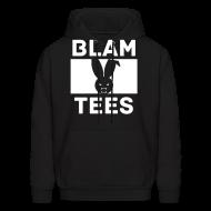 Hoodies ~ Men's Hoodie ~ BlamTees Fashion - Boxed In - Evil Rabbit Logo - Mens Hoodie