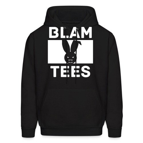 BlamTees Fashion - Boxed In - Evil Rabbit Logo - Mens Hoodie - Men's Hoodie