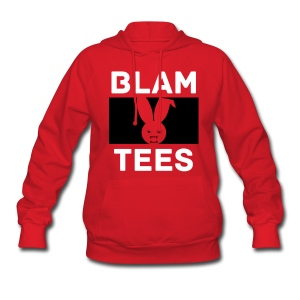 BlamTees Fashion - Boxed In - Evil Rabbit Logo - Womens Hoodie - Women's Hoodie