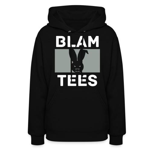 BlamTees Fashion - Boxed In - Evil Rabbit Logo - Womens Hoodie - Women's Hoodie