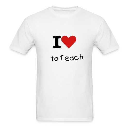 I love to teach - Men's T-Shirt