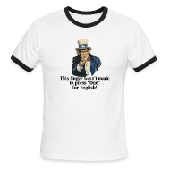 T-Shirts ~ Men's Ringer T-Shirt ~ This finger wasn't made to press
