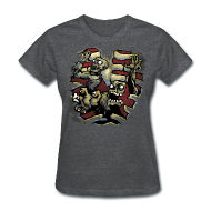 Women's T-Shirts ~ Women's T-Shirt ~ Choice of Zombies: Ribcage - color (W's)