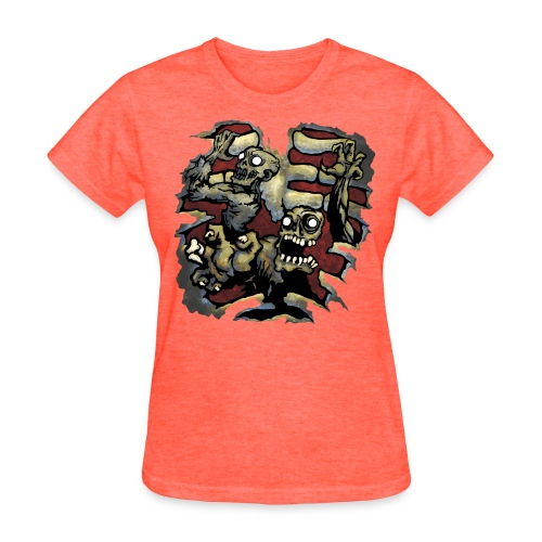 Choice of Zombies: Ribcage - color (W's) - Women's T-Shirt