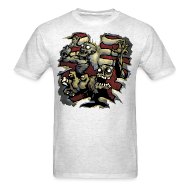 T-Shirts ~ Men's T-Shirt ~ Choice Of Zombies: Ribcage - color (M's)