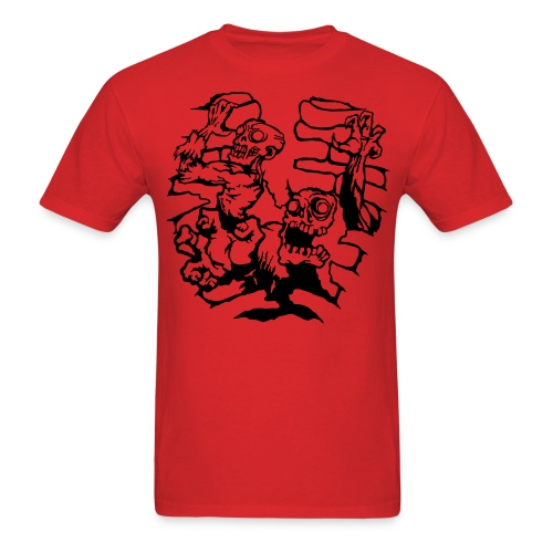 Choice Of Zombies: Ribcage - line (M's) - Men's T-Shirt