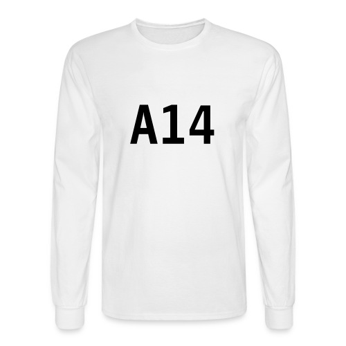 A14 White Longsleeve shirt - Men's Long Sleeve T-Shirt