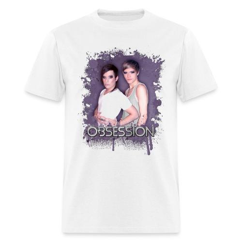 Obsession - Splatter (white) Tee - Men's T-Shirt