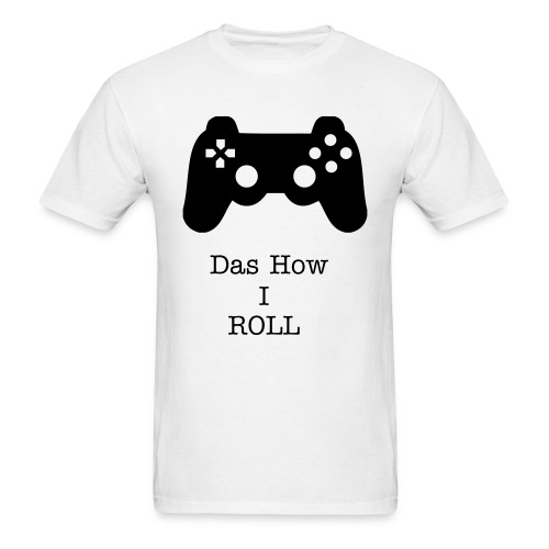 PS3 Das How I Roll White - Men's T-Shirt