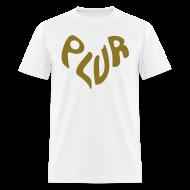 T-Shirts ~ Men's T-Shirt ~ Peace Love Unity & Respect (PLUR) Rave Mantra