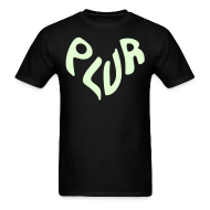 T-Shirts ~ Men's T-Shirt ~ Peace Love Unity & Respect (PLUR) Rave Mantra Glow in the dark print